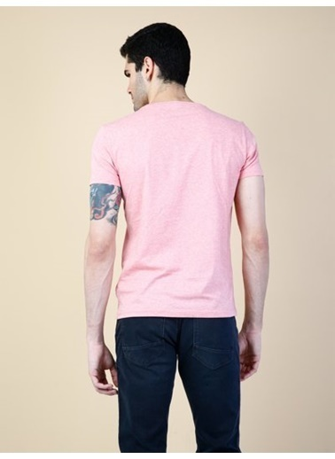 Colin's V Yaka T-Shirt Pembe